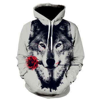 2020 Autumn Men's Hoodie 3d Printing Wolf Head Men's And Women's Sweatshirt Fashion Street Hip Hop Clothing Long Sleeve Coat 1