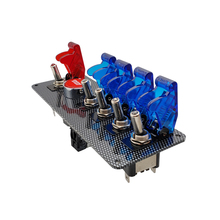 Interruptor de arranque de coche Panel Auto 12V palanca LED interruptor de arranque de motor botón LED ON OFF interruptor Panel