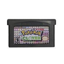Para nintendo gba vídeo game cartucho console cartão poke série clover inglês idioma eua versão