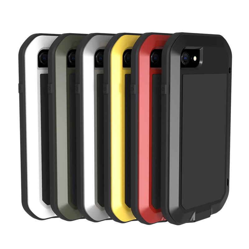 <font><b>Original</b></font> Love Mei Powerful <font><b>Case</b></font> For <font><b>iPhone</b></font> 7 <font><b>8</b></font> Shock Dirt Proof Water Resistant Metal Armor Cover Phone <font><b>Case</b></font> for <font><b>iPhone</b></font> SE 2020 image
