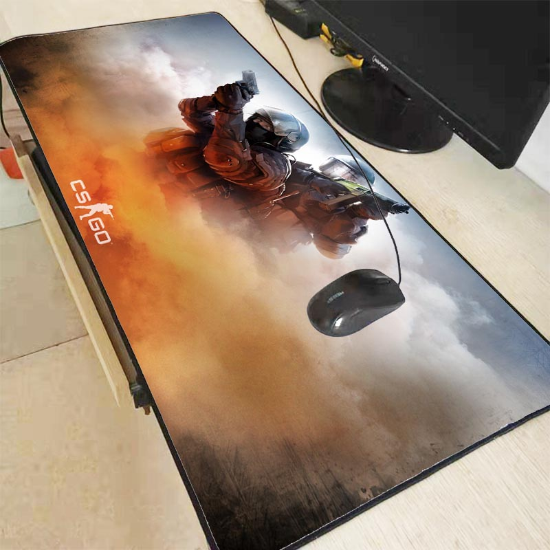 CS GO Gamer Large Mouse Pad Counter Strike Non-slip Keyboard Mouse Mat  Mousepad For PC Computer Keyboard Mouse Gaming