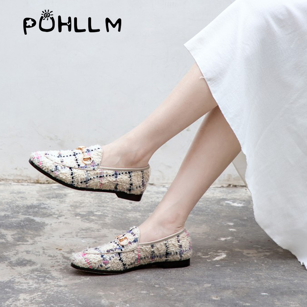 Image 4 - PUHLLM   Pink Falts Shoes Women 2019 Autumn Ladies Falts Shoes Lining sheepskin Round Toe  Fashion Women's Shoes slip ons  D19-in Women's Flats from Shoes