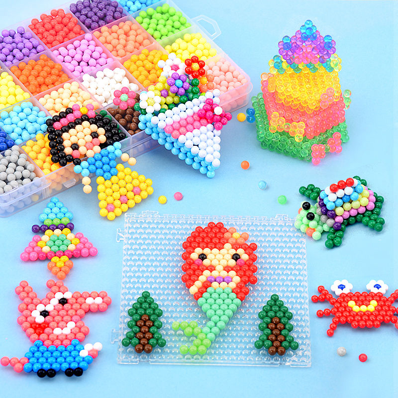 11000pcsChildren Beads Crafts For Kids DIY Beads Crystal Creative Material Kids Beads Water Spray Magic Puzzle Toys For Children