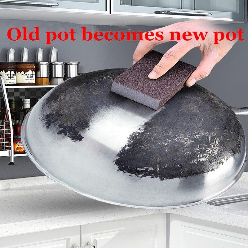 1/5 шт. 100*70*25 мм, магия ластик Губка для удаления ржавчины хлопковая Швабра для наждачной губкой меламиновой губкой кухонные принадлежности 7z