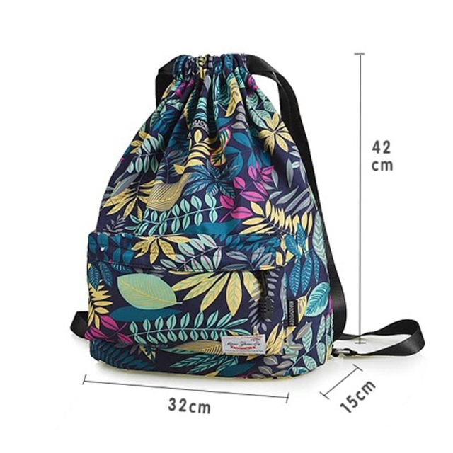 Women Drawstring Gym Bag Waterproof Sports Bag Outdoor Backpack For Training Girls Travel Swimming Fitness Bags Softback Student 6