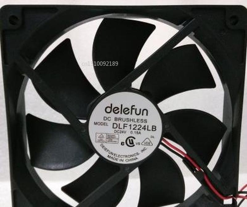 For DELEFUN 12CM 12025 24v Durable Double Ball Cooling Fan Fan DLF1224LB Free Shipping