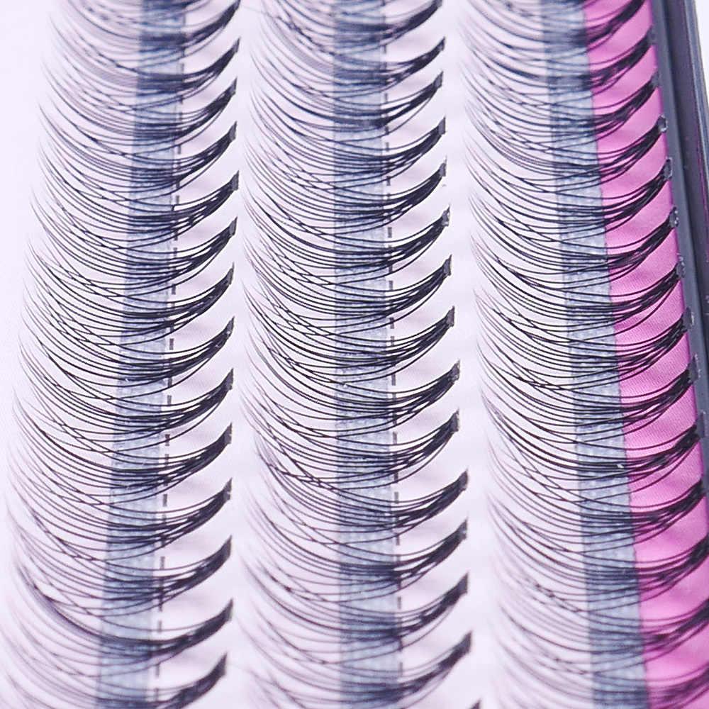 8/10/12mm 60 Pacote/Set Kits de Extensão Pestanas Falsas Individuais Cluster Longo Natural Enxertada Falso cílios Ferramenta Maquiagem Beleza