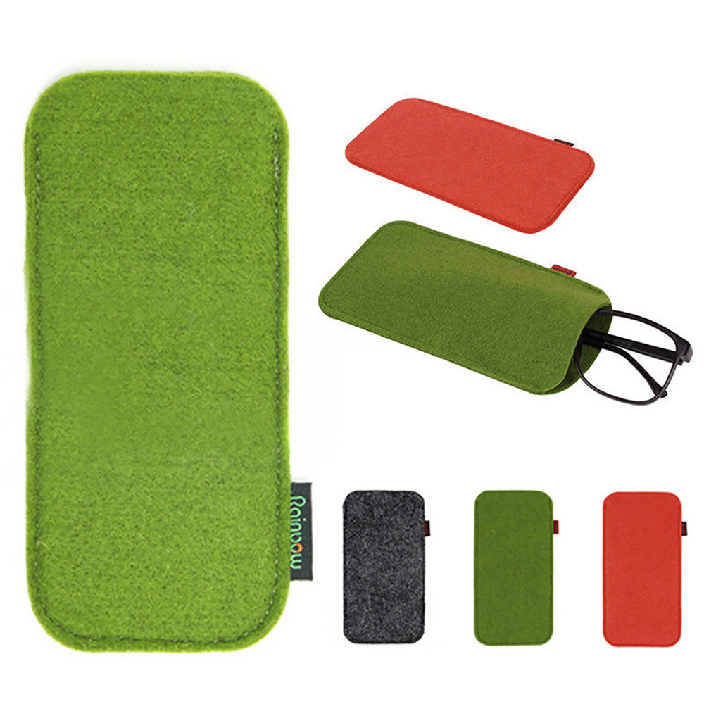 1PC Unisex Glasses Case Soft Felt Cloth Sunglasses Bag Glasses Pouch Eyewear Protector Glasses Accessories High Quality