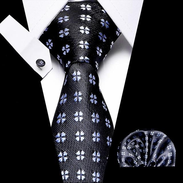 100% шелк 75 см клетчатый галстук бабочка белый нагрудный платок фотография