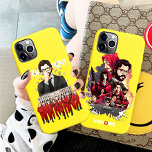 New Spain TV Money Heist House Paper yellow TPU soft phone case Cover For iPhone 8 7 6 6S Plus XR 10 11 Pro max X XS Max 5 5S SE