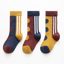 3pairs/lot girls bra Dot print short socks kids Sock Children Kids Summer Boys Fashion 4-12Y  Cotton D2204