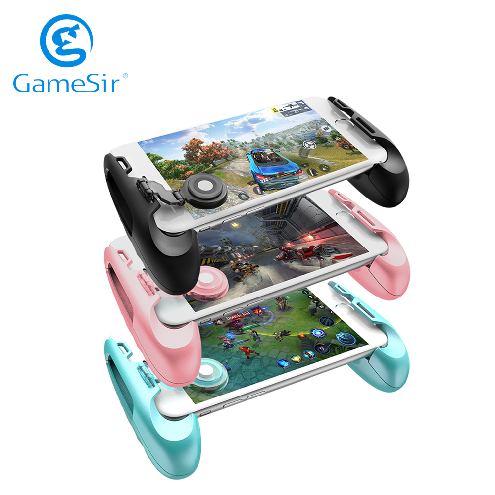 GameSir F1 ג 'ויסטיק גריפ נייד טלפון משחק בקר Gamepad עבור PUBG COD Call of Duty שחור/כחול/ורוד