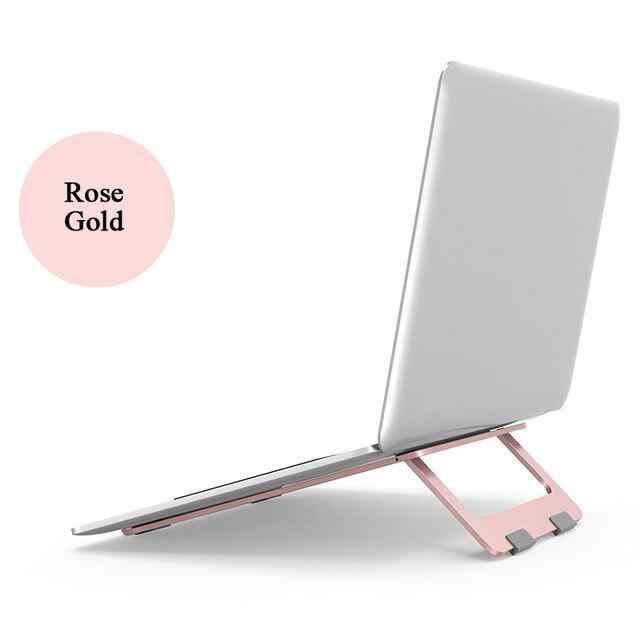 Katlanabilir laptop standı alüminyum ayarlanabilir masaüstü Tablet tutucu masası masa cep telefon standı iPad macbook pro air dizüstü bilgisayar