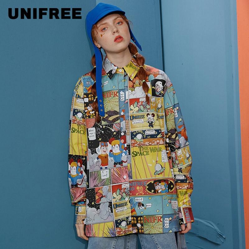 Unifree Shirt Women's Design Sense Small Retro Flower Shirt Hong Kong Flavor 2020 Spring  U201D017C1W1