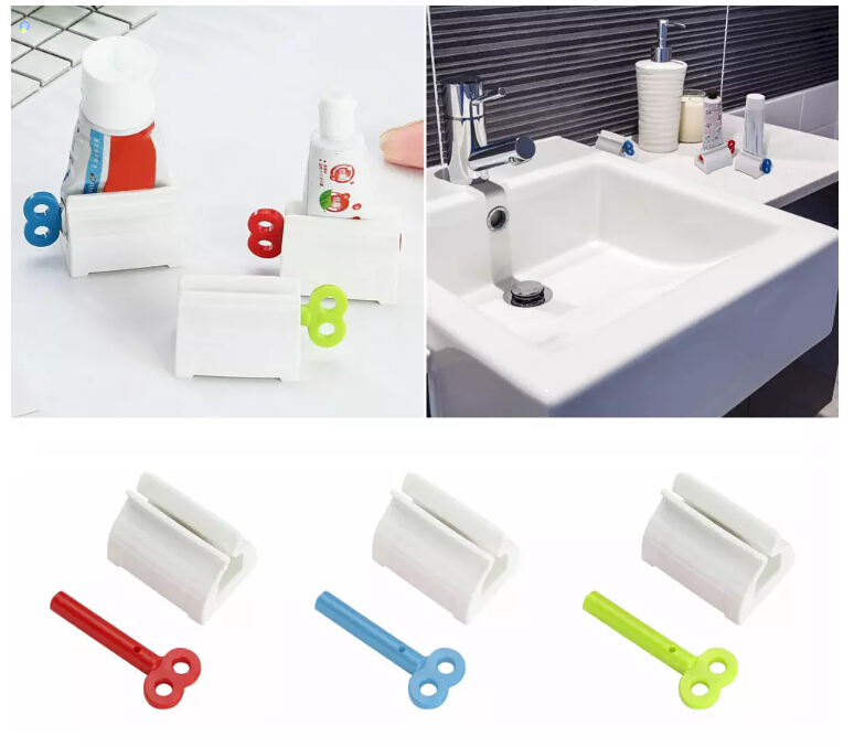 NEW 2020 Toothpaste Squeezer Rolling Tube Toothpaste Quetscher Roller Easy Dispenser Seat Holder Stand
