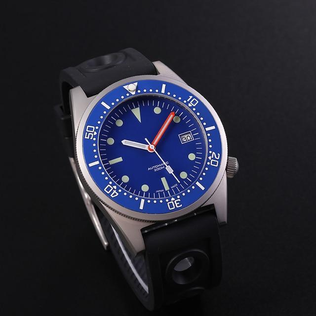 STEELDIVE 1979 SHARK NH35 DIVER 200MนาฬิกาอัตโนมัติMensนาฬิกา 2020 ใหม่นาฬิกานาฬิกาผู้ชายกันน้ำนาฬิกาดำน้ำ