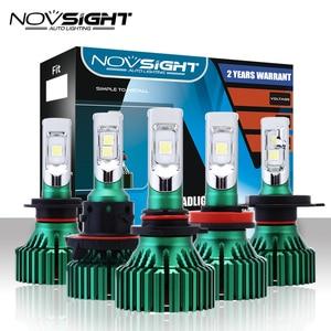 Image 1 - NOVSIGHT H4 LED H7 H11 سيارة أدى المصابيح الأمامية 60W 16000LM H8 H9 9005 9006 القيادة الضباب مصابيح كهربائية اللعب و Pluy مصابيح ضباب 6500K