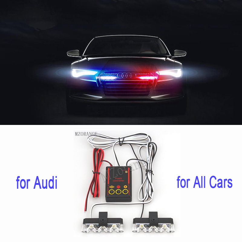 2x3 LED Police Lights Strobe Lights On A Car Flashing Warning Lights For All Cars Flasher Stroboscopes For Cars Police Light