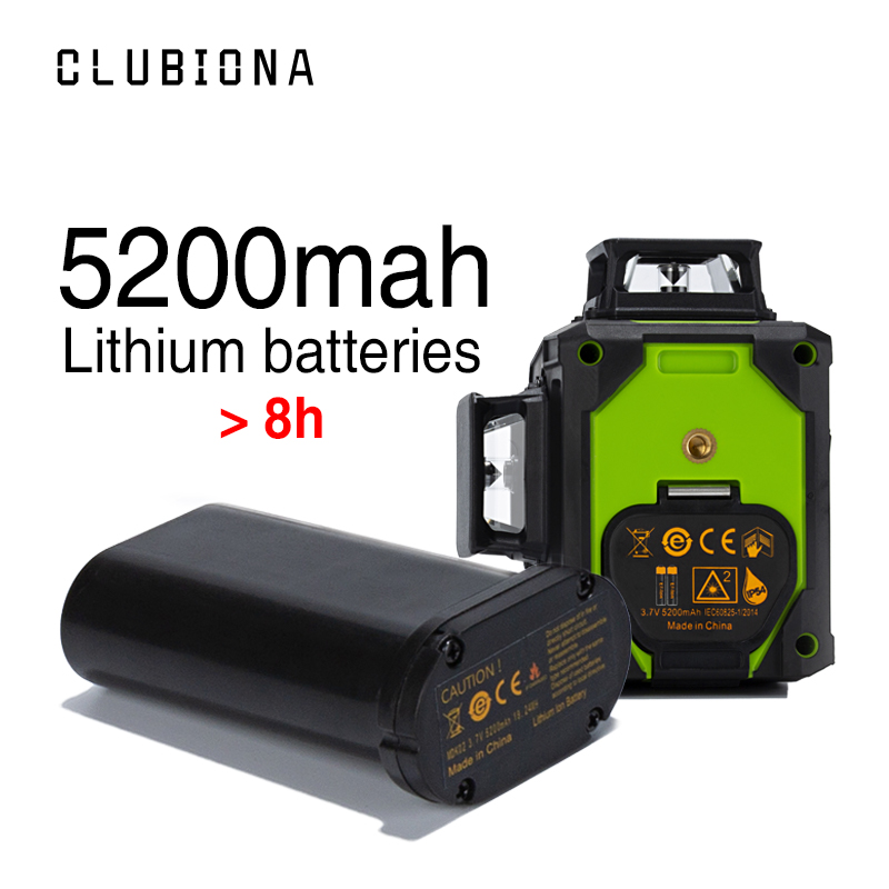 CLUBIONA Self Leveling Laser Level with 5200 Mah BATTERY for Horizontal And Vertical 3D Lines 1