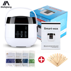 Digital Wax Heater Waxing Machine for Hair Removal Warmer Kit 4 Bag 400g Wax Beans 10 Stickers Body Care Hands Feet Epilator