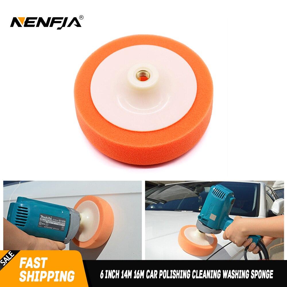 6 Inch 14M 16M Car Polishing Cleaning Washing Sponge Buffing Waxing Pad Wheel Car Polisher Accessories Polisher Pad Paint Care