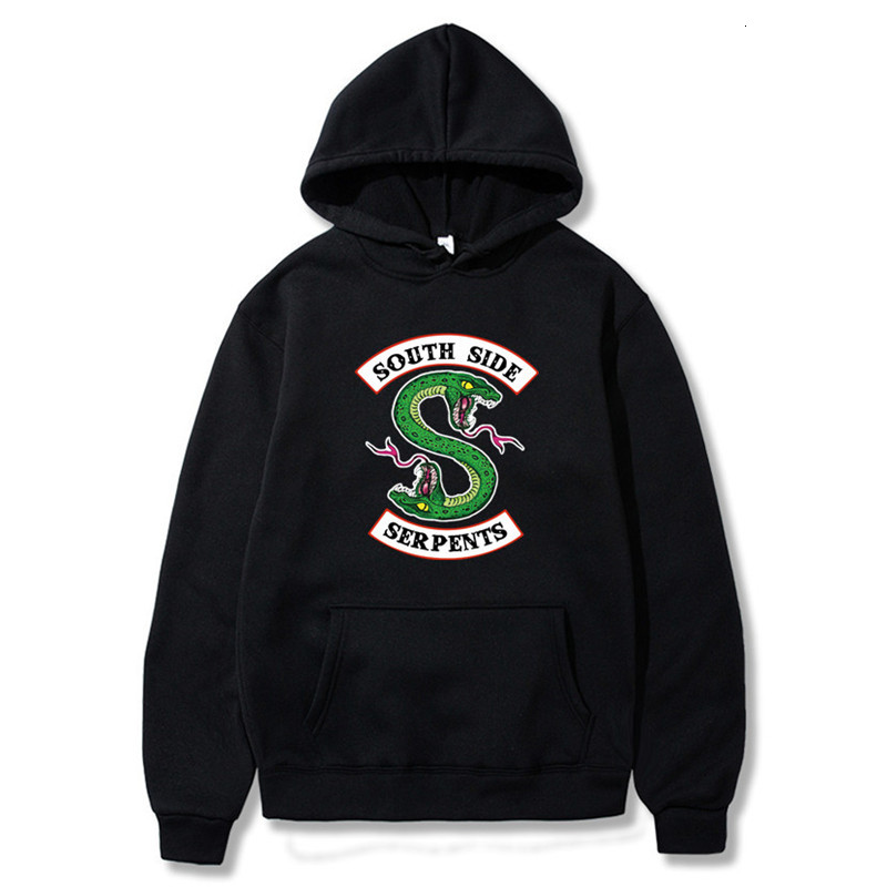 2019 New South Side Snake Hoodie Sweatshirt Hip Hop Streetwear Autumn Spring Fashion Men's Hoodies Sweatshirt Hoodie S-XXXL