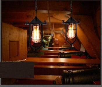 Metal pendant lamp industry pendant lamp black hanging light  coffee shop lighting