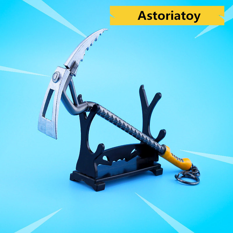 Battle Royale Toy Model The Rock climber Keychain Alloy Weapons Kids Toy Collection Decoration