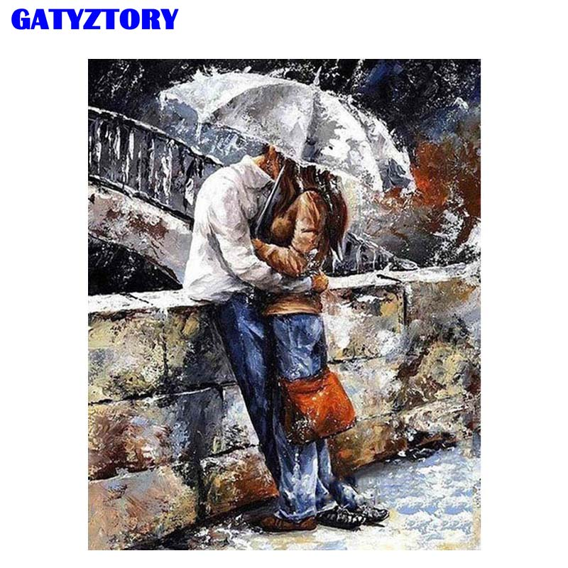 Frameless diy pintura por números guarda-chuva pintura a óleo para sala de estar decoração casa pintura da lona presente especial pintados à mão