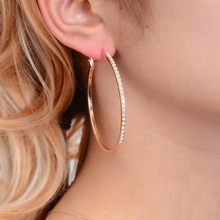 Endless Friendship Explosions Large earrings for women Fashion geometric diamond model Lady Jewelry