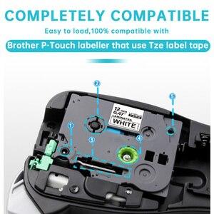 Image 3 - 10 Uds TZe 231 Compatible para Brother P touch cinta para impresora de etiqueta Tze 231 Tz 231 12mm negro sobre blanco TZ TZe 131 laminado cintas