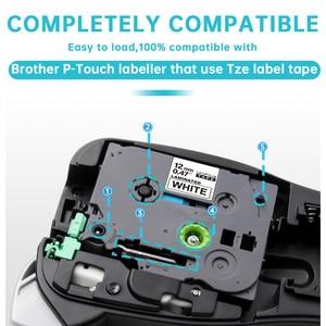 Image 3 - 10PCS TZe 231 תואם עבור Brother p touch מדפסת תווית קלטת Tze 231 Tz 231 12mm שחור על לבן TZ צה 131 למינציה סרטים