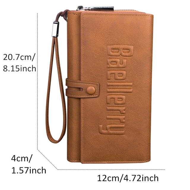 Baellerry Wallet Male Clutch Wallets Large Phone Bag Unique Design Men Purse Turnover Handbag Multifunction Card Holder Wallet 3