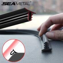 Tira de sellado para salpicadero de coche, cinta de sellado de sonido de goma para automóvil, 1,6 M, tiras de sellado para bordes de parabrisas automático, accesorios interiores para automóvil