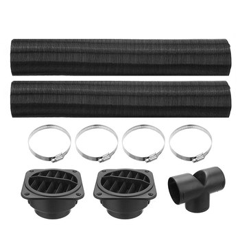 1 Set Car 75mm Air Parking Heater Pipe Ducting T Piece Warm Air Outlet Vent Hose Clips For Diesel Heater For Webasto Eberspacher