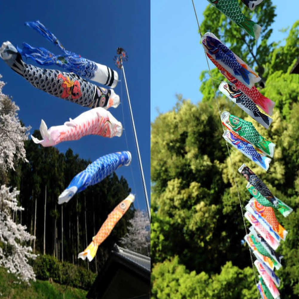 Japonês windsock carpa bandeira koinobori sailfish peixe vento streamer decorações de jardim