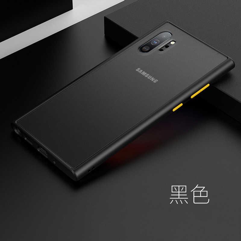 กันกระแทก Frosted โทรศัพท์กลับ ETUI.coque.ฝาครอบสำหรับ Samsung Galaxy note10 หมายเหตุ 10 + PLUS Soft ซิลิโคน TPU
