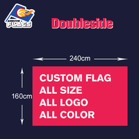 Custom Flag Double sided Customize LGBT Banners 100D Polyester 240x160cm 2019 New Sale All Logos and Colors and Sizes