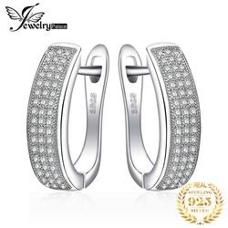 Jewelrypalace cz hoop brincos 925 brincos de prata esterlina para mulher canal eternidade coreano brincos moda jóias 2019