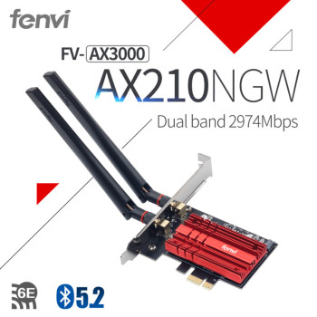 300mbps dual band wifi pci e adapter antennas wireless computer network pcie card 802 11a b g n 300m wifi wlan for desktop pc Dual band 2.4Gbps Wireless WiFi 6 Adapter AX210 Bluetooth 5.2 802.11ax Desktop PCI-E wifi card For AX200NGW Network Wlan Card