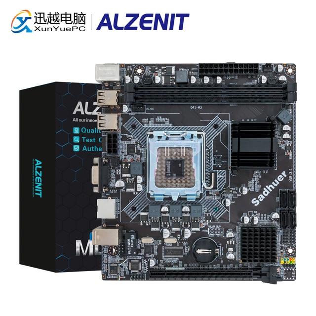 ALZENIT G41I-D3 Motherboard G41 ICH7 LGA 771 775 DDR3 8GB SATA2.0 USB2.0 Mini-DTX 100M Server Mainboard
