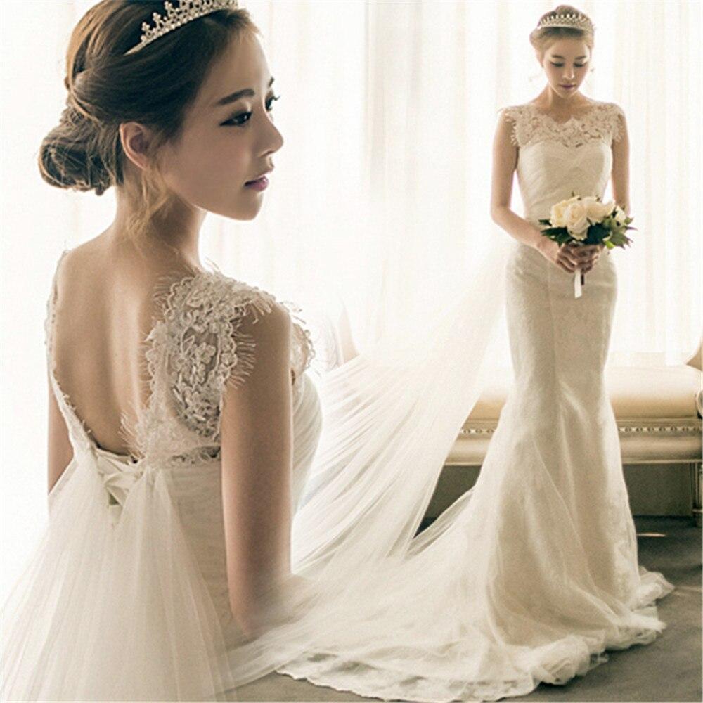 Slim dentelle robes De bal sirène robe formelle femmes élégant fée traînant Vestidos De Festa Sexy sans manches blanc robe De soirée