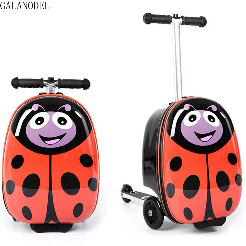 Kids Scooter Rolling Suitcase Lazy Trolley Case Skateboard Luggage For Children's Travel Suitcase On Wheels Baby Luggage