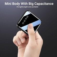 Mini banco de energía de 20000mAh para Xiaomi, cargador portátil, batería externa de 10000 mah con espejo LED trasero, cargador de batería USB