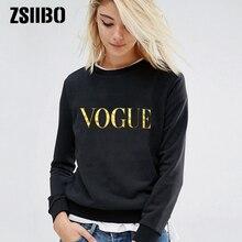 Suéteres de mujer 2019 invierno otoño nueva moda VOGUE letras femeninas cuello redondo Jersey Casual superior tallas grandes señoras ropa trui