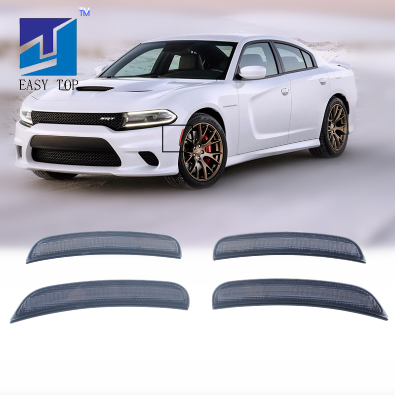 Front & Rear Smoke Lens Led Side Marker Lights For Dodge Charger 2015 2016 2017 2018