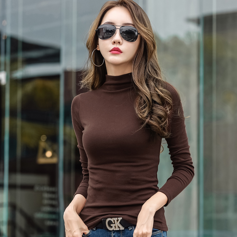 Velvet Warm Women Turtleneck Sweater 2019 Korean Skinny Winter Thick Female Slim Basic Pullovers Long Sleeve Pull Femme Jumper