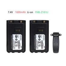 2X Battery for Vertex EVX-C31 VZ-30, VZ-30-D0-5, VZ-30-G6-4 Walkie Talkie FNB-Z181LI 7.4V 1800mAh vz 629ваза стеклянная лето h 300