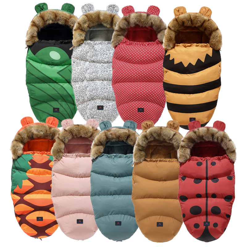 0-24M Baby Sleeping Bag Stroller Winter Windproof Thick Sleep Sacks For Infant Wheelchair Envelopes Newborns Cocoon For Newborns