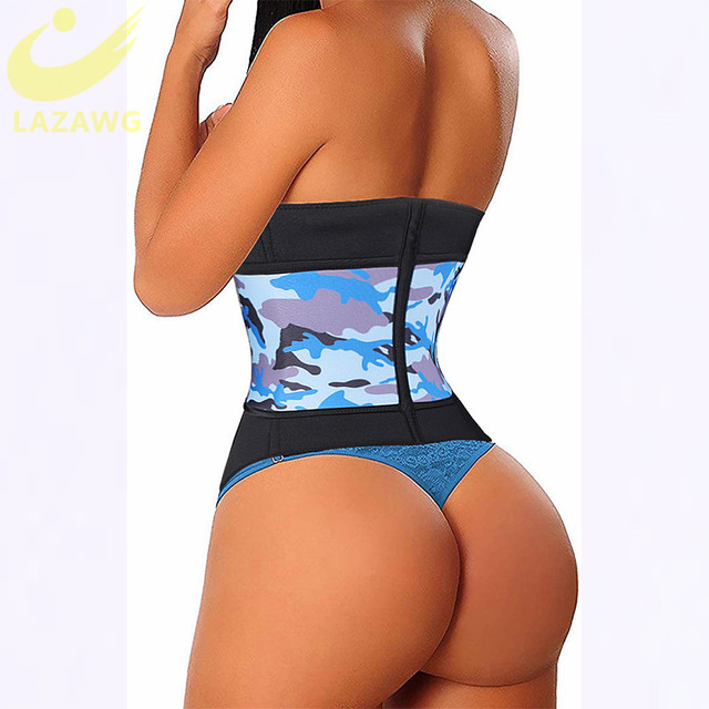 LAZAWG Neoprene Sauna Waist Trainer Corset Sweat Belt for Women Weight Loss Compression Trimmer Workout Fitness Hot Thermo Girdl 1